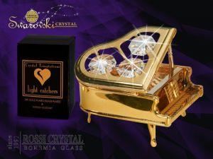 Piano gold with Swarovski crystals