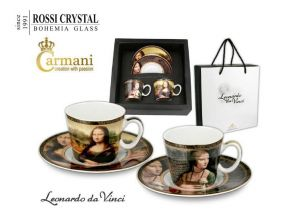 Porcelain cup with saucer Leonardo da vinci - set of 2pcs