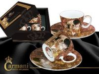 Porcelain mocca set 2pcs G. Klimt - Kiss