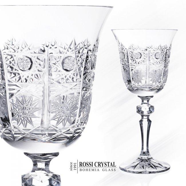 Laura 500pk Wine Glass Fine Cut Rossi Crystal Bohemia Glass