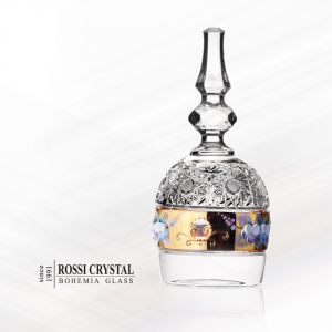 Crystal glass bell gilded with gold