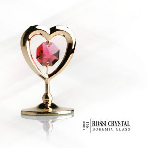 Golden Heart, decoration with Swarovski crystal