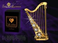 Golden harp with Swarovski crystals