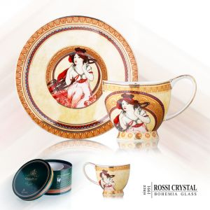 Porcelain Tea cup and saucer - Music