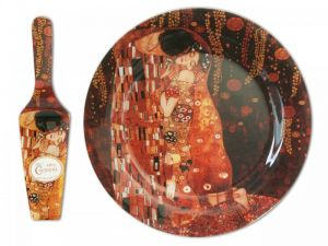 Glass dish with spoon - G. Klimt