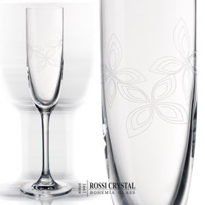 Butterfly Angelina 07, fine engraved champagne flute