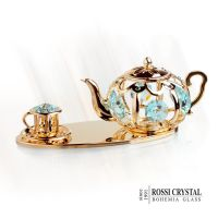 Teapot set gold