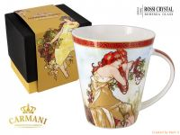 Porcelain tea mu - collection A. Mucha - Spring