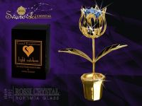 Golden tulip with Swarovski crystals