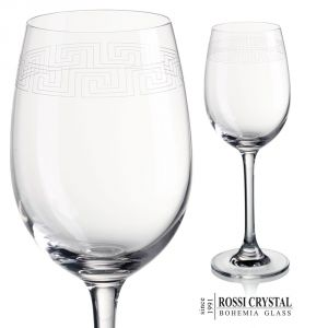 Labyrinth Angelina 02, wine glass engraved