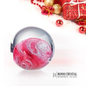 Glass paperweight pink