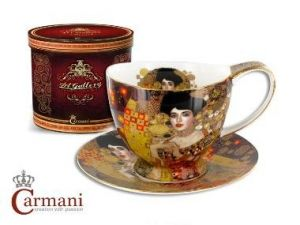 Porcelain cup and saucer Big Vanessa - Adela Bloch