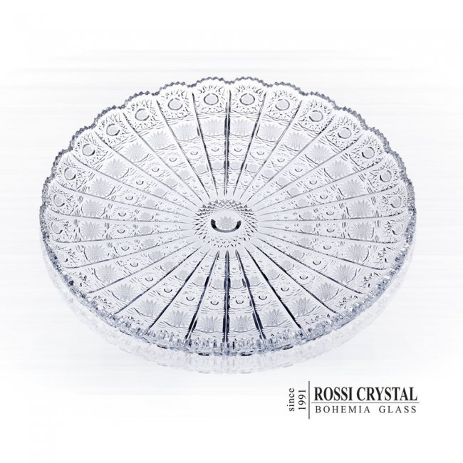 Fine Cut Plate Round Traditional Cut Pk Rossi Crystal