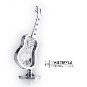 Silver Guitar, decoration with Swarovski crystal