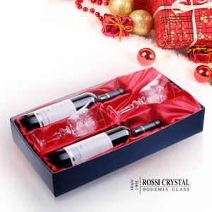 Wine gift set Twin - traditional fine cut glasses